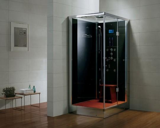 Dampfdusche Aqualine WS109S6 weiss, rechte Version