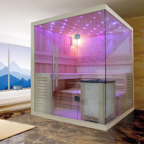 EOSPA Sauna B1105C Pappelholz/180x180/9kW EOS BiO-MAX