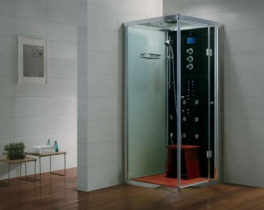 Dampfdusche Aqualine WS107-1S6 schwarz - rechte Version