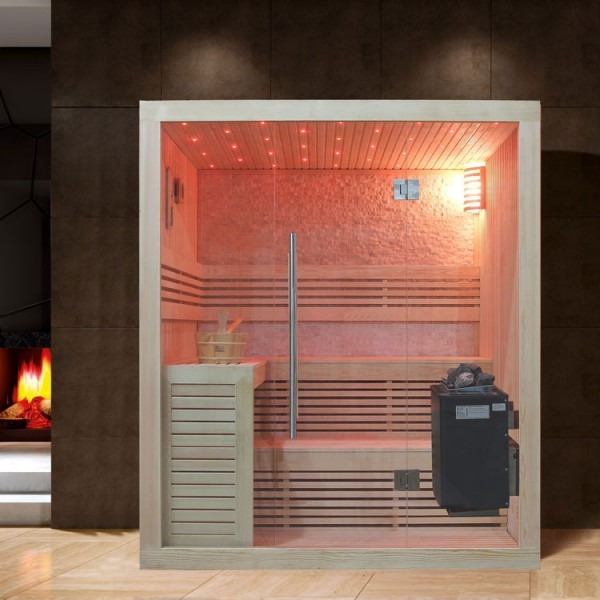 EOSPA Sauna B1102A Pappelholz/220x200/9kW EOS BiO-Thermat