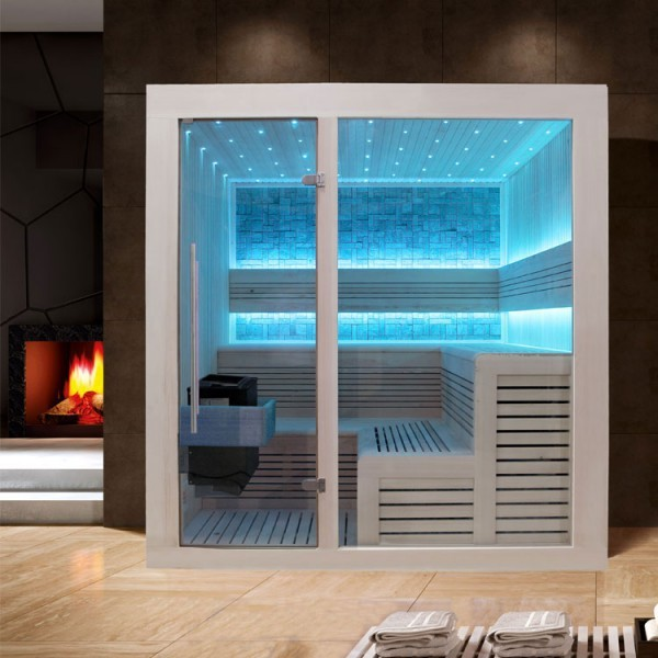 EOSPA Sauna B1213B Pappelholz/200x200/9kW EOS BiO-Thermat