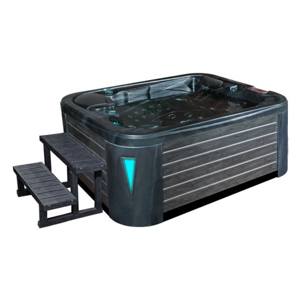EO-SPA Aussenwhirlpool IN-595 premium CloudyBlack 200x150 grau