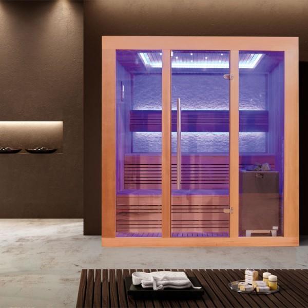 EOSPA Sauna E1244B rote Zeder/180x150/9kW EOS Cubo