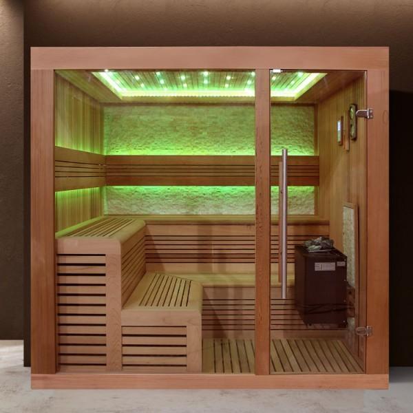 EOSPA Sauna B1243A rote Zeder/220x200/9kW EOS BiO-Thermat