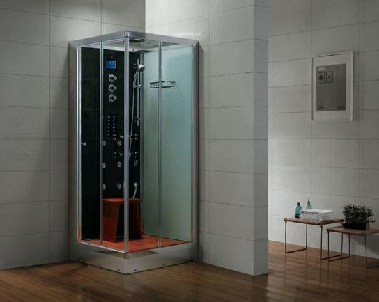 Dampfdusche Aqualine WS133S6 weiss, linke Version