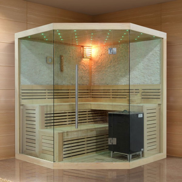EOSPA Sauna B1101C Pappelholz/180x180/9kW EOS BiO-MAX