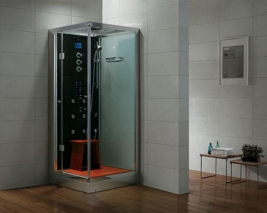 Dampfdusche Aqualine WS106S6 weiss - linke Version