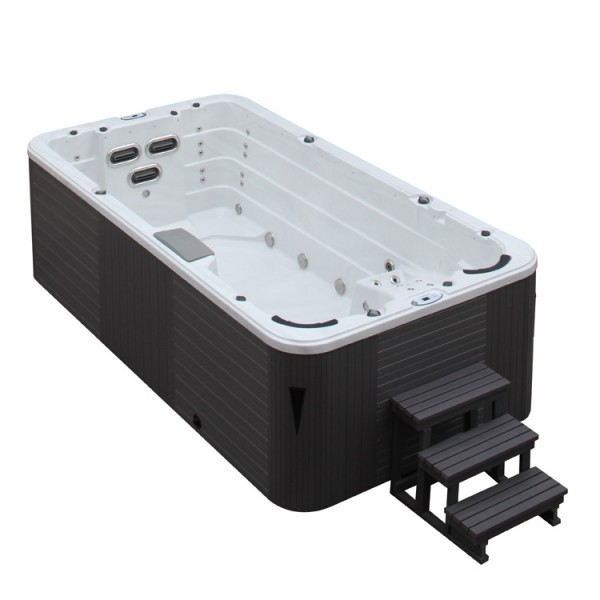 EOSPA Aussenwhirlpool SWIM SPA Innovation 4.5 SterlingSilver/450x230/grau