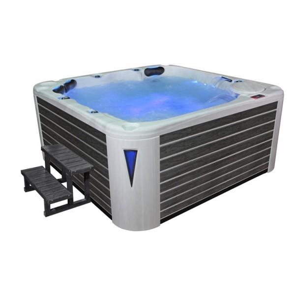 EO-SPA Aussenwhirlpool IN-598 premium SilverMarble 235x235 grau