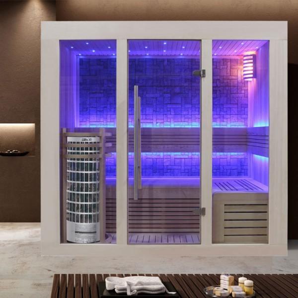 EOSPA Sauna E1216A Pappelholz/200x120/6.8kW Cilindro