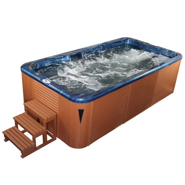 EOSPA Aussenwhirlpool SWIM SPA Innovation 4.5 SummerSaphire/450x230/braun