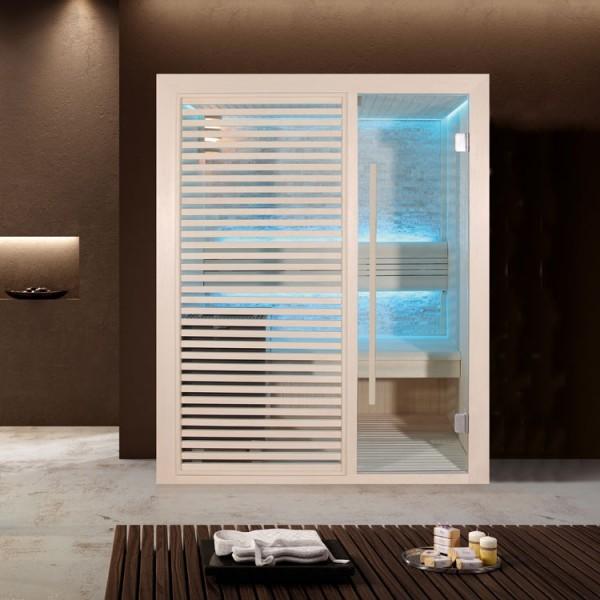 EO-SPA Sauna E1410C Pappelholz/120x105/6.8kW Cilindro