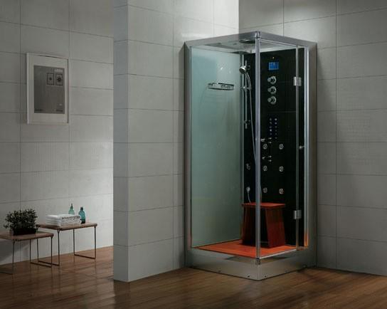 Dampfdusche Aqualine WS132S6 weiss, rechte Version