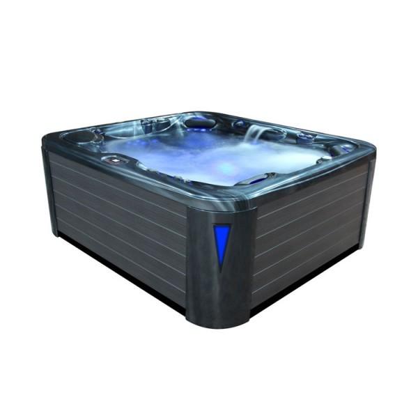 EO-SPA Aussenwhirlpool IN-590 premium extreme CloudyBlack 250x228 grau
