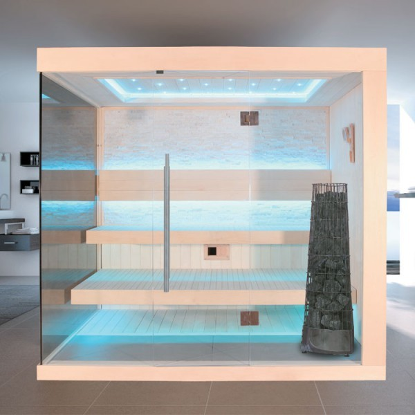 EO-SPA Sauna E1245C Pappelholz/180x180/9kW Kivi