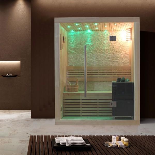 EOSPA Sauna B1103C Pappelholz/120x105/3kW EOS BiO-Mini