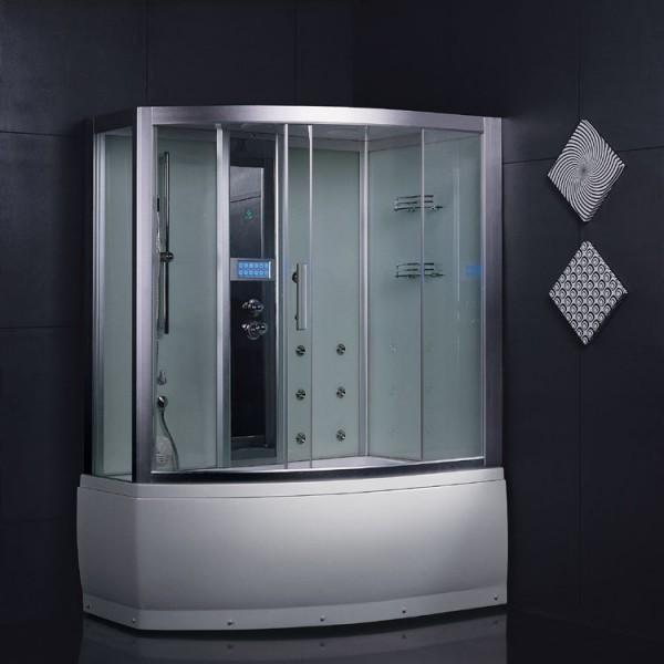EAGO Dampfdusche DA328HF3 weiß/ 150 x 100/rechts