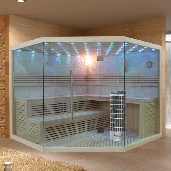 EO - SPA Sauna E1101 XL Pappelholz/ 250 x 250/ 9kW Cilindro
