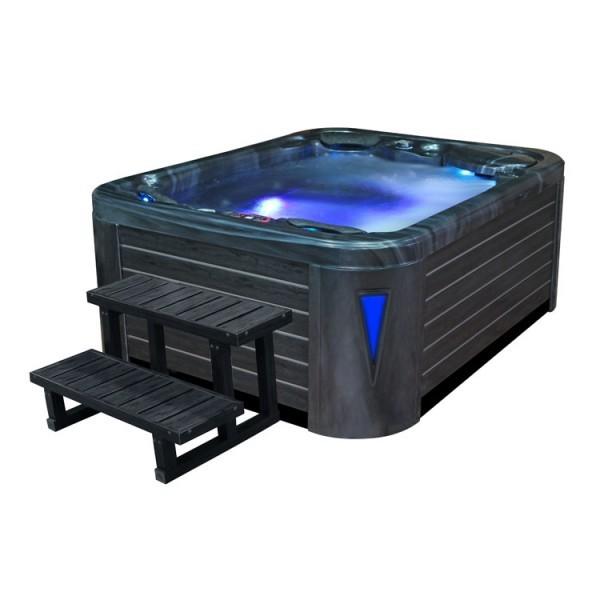 EO-SPA Aussenwhirlpool IN-597 premium CloudyBlack 212x165 grau