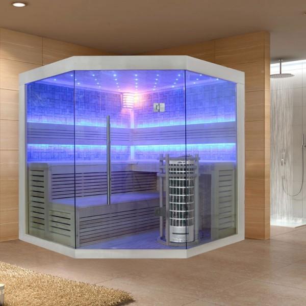 EOSPA Sauna E1211C Pappelholz/180x180/9kW Cilindro