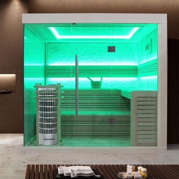 EOSPA Sauna E1246C Pappelholz/180x180/9kW Cilindro
