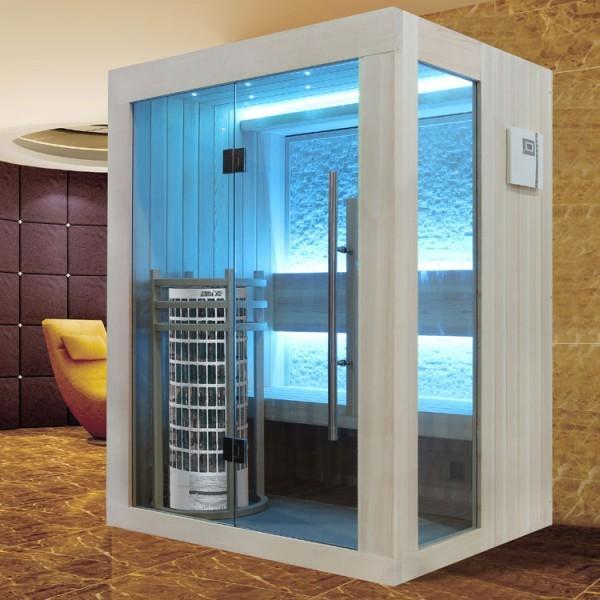 EOSPA Sauna E1252C Pappelholz/100x110/6.8kW Cilindro