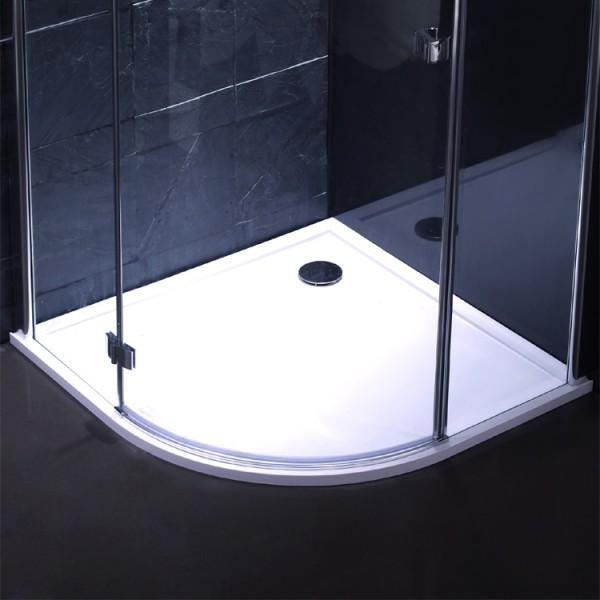 EAGO Duschtasse LX1000R weiß/ 100 x 100/ Viertelkreis