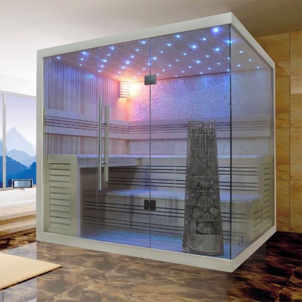 EOSPA Sauna E1105A Pappelholz/220x180/9kW Kiwi