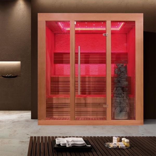 EOSPA Sauna E1244B rote Zeder/180x150/9kW Kiwi