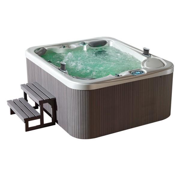EO-SPA Aussenwhirlpool IN-591 classic SilverMarble 220x186 grau