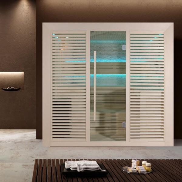 EO-SPA Sauna E1402B Pappelholz/200x170/9kW Cilindro