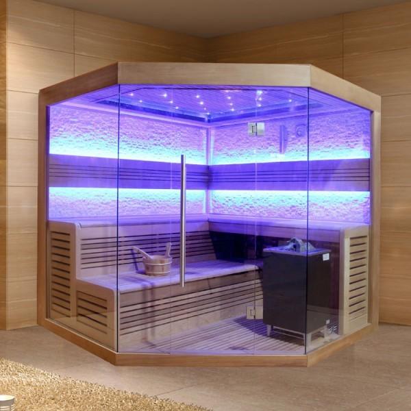 EOSPA Sauna E1242C rote Zeder/180x180/9kW EOS Cubo