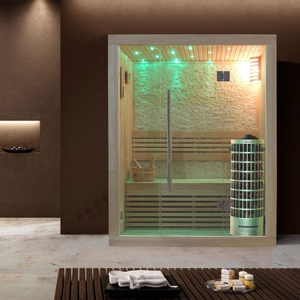 EO-SPA Sauna E1103A Pappelholz/180x105/6.8kW Cilindro