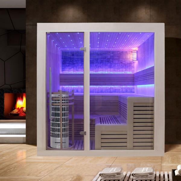 EO-SPA Sauna E1213C Pappelholz /180x180/9kW Cilindro