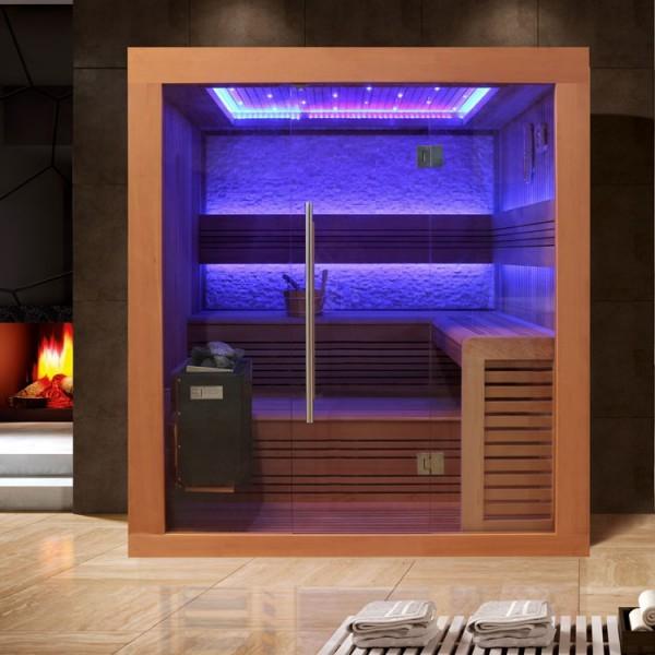 EOSPA Sauna B1241A rote Zeder/220x170/9kW EOS BiO-Thermat