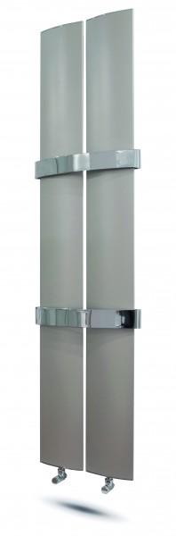 Designheizkörper Modell: Othello Twin Slim ( m 1 Handtuchhalter )