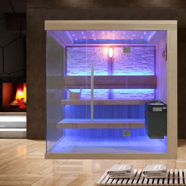 EOSPA Sauna B1245B rote Zeder/200x180/9kW EOS BiO-Thermat