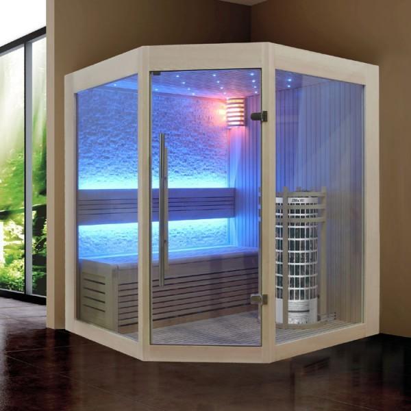 EOSPA Sauna E1219B Pappelholz/140x140/6.8kW Cilindro