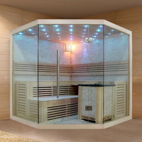 EO - SPA Sauna B1101 XL Pappelholz/250 x 250/ 12 kW EOS Bio - MAX