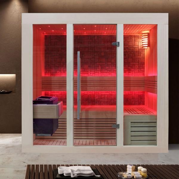EOSPA Sauna B1216A Pappelholz/200x120/9kW EOS BiO-Thermat