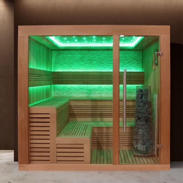 EOSPA Sauna E1243 XL rote Zeder/220x220/9kW Kiwi