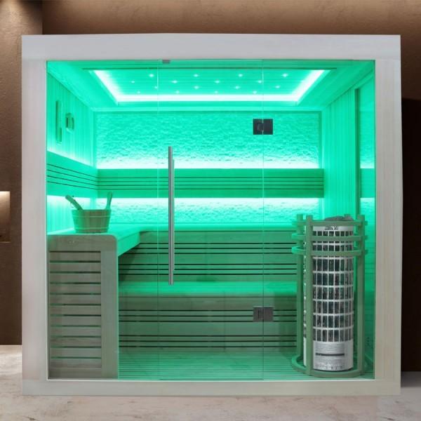EOSPA Sauna E1247C Pappelholz/180x180/9kW Cilindro