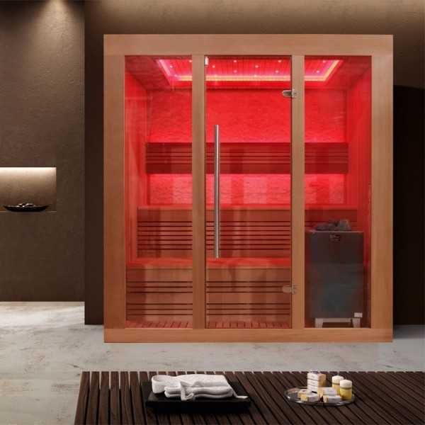 EOSPA Sauna E1244A rote Zeder/200x160/9kW EOS Cubo