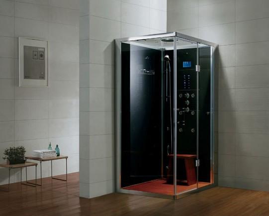 Dampfdusche Aqualine WS108-1S6 schwarz rechte Version