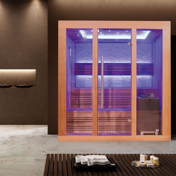 EOSPA Sauna E1244C rote Zeder/160x150/9kW EOS Cubo