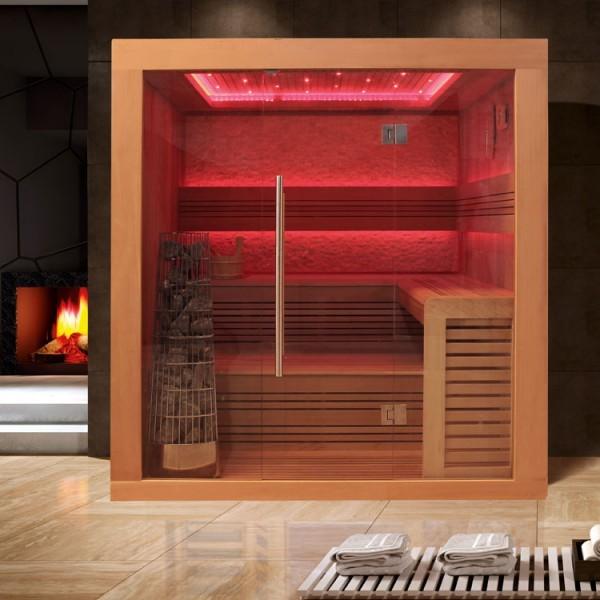 EOSPA Sauna E1241A rote Zeder/220x170/9kW Kiwi
