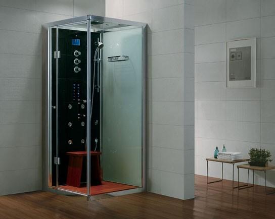 Dampfdusche Aqualine WS106-1S8 schwarz - rechte Version