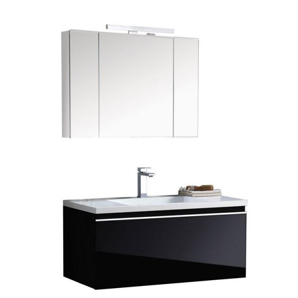 Badmöbel Milano ME-1000+ schwarz