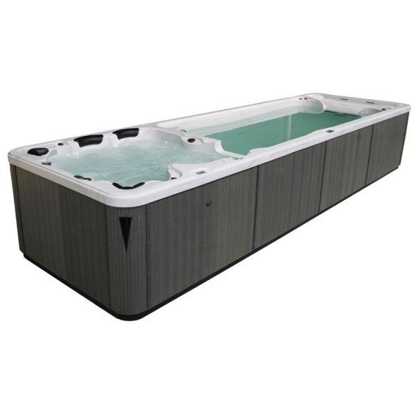EO-SPA Aussenwhirlpool SWIM-SPA Aquacise 7.5 SterlingSilver 750x230 grau