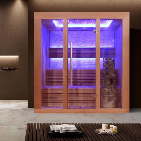 EOSPA Sauna E1244A rote Zeder/200x160/9kW Kiwi